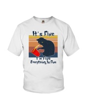 It's Fine I'm Fine Everything Is Fine Youth T-Shirt tile