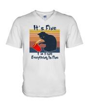 It's Fine I'm Fine Everything Is Fine V-Neck T-Shirt tile