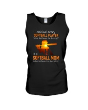 Behind Every Softball Player Softball Mom Unisex Tank tile