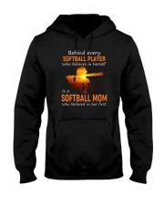 Behind Every Softball Player Softball Mom Hooded Sweatshirt tile