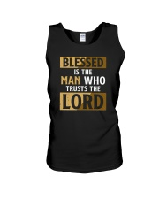 Blessed Is The Man Who Trusts The Lord Unisex Tank tile