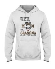 God Gifted Me Two Titles Mom And Grandma Hooded Sweatshirt tile