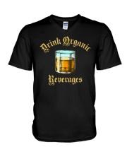 Drink Organic Beverages V-Neck T-Shirt tile
