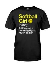 Softball Girl Definition Classic T-Shirt front