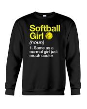 Softball Girl Definition Crewneck Sweatshirt tile