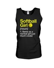 Softball Girl Definition Unisex Tank tile