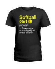 Softball Girl Definition Ladies T-Shirt tile