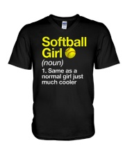 Softball Girl Definition V-Neck T-Shirt tile