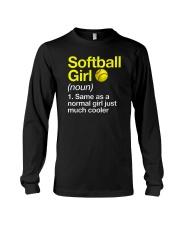 Softball Girl Definition Long Sleeve Tee tile