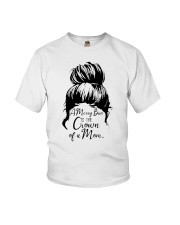 A Messy Bun Is The Crown Of a Mom Youth T-Shirt tile