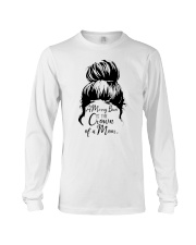 A Messy Bun Is The Crown Of a Mom Long Sleeve Tee tile