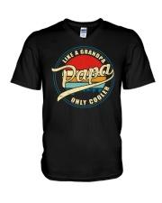 Papa Like A Grandpa Only Cooler V-Neck T-Shirt tile