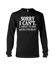 Sorry I Can't I Have Plants With My Boat Long Sleeve Tee tile