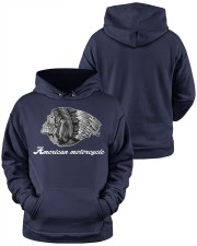 Motorcycle Skull Native Indian Eagle Chief Hooded Sweatshirt apparel-hooded-sweatshirt-lifestyle-front-37