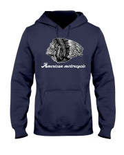 Motorcycle Skull Native Indian Eagle Chief Hooded Sweatshirt front