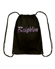 Brighton - purple sea Drawstring Bag thumbnail