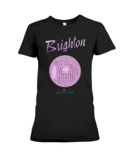 Brighton - UK City Of Disco purple fog Premium Fit Ladies Tee thumbnail