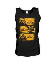 The good the bad the hero Unisex Tank thumbnail