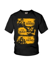 The good the bad the hero Youth T-Shirt thumbnail
