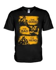 The good the bad the hero V-Neck T-Shirt thumbnail