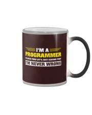 Code never wrong Color Changing Mug thumbnail