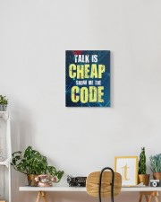 Talk is cheap 11x14 Gallery Wrapped Canvas Prints aos-canvas-pgw-11x14-lifestyle-front-03