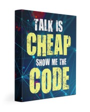 Talk is cheap 11x14 Gallery Wrapped Canvas Prints front