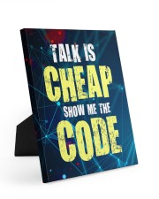 Talk is cheap 8x10 Easel-Back Gallery Wrapped Canvas thumbnail