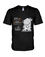 Java vs Javascript V-Neck T-Shirt thumbnail