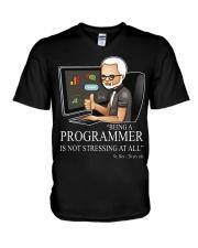 Not stressing at all V-Neck T-Shirt thumbnail