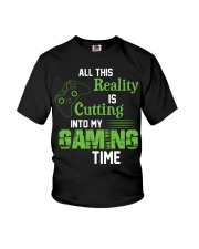 All this reality is cutting into my gaming time Youth T-Shirt thumbnail