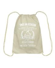 Once an assassin Drawstring Bag thumbnail