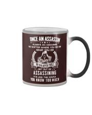 Once an assassin Color Changing Mug thumbnail