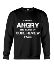 Code review face Crewneck Sweatshirt tile