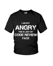 Code review face Youth T-Shirt tile