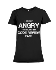 Code review face Premium Fit Ladies Tee thumbnail