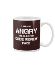 Code review face Mug tile