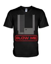 Blow me V-Neck T-Shirt thumbnail