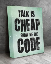 Talk is cheap 11x14 Gallery Wrapped Canvas Prints aos-canvas-pgw-11x14-lifestyle-front-08