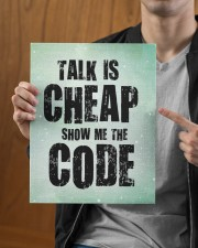 Talk is cheap 11x14 Gallery Wrapped Canvas Prints aos-canvas-pgw-11x14-lifestyle-front-30