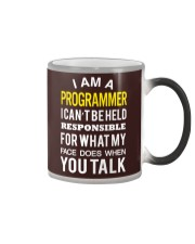 I am Programmer Color Changing Mug tile