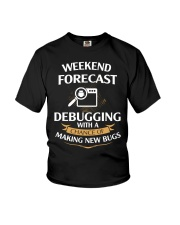 programmer weekend forecast Youth T-Shirt thumbnail