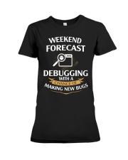 programmer weekend forecast Premium Fit Ladies Tee thumbnail