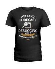 programmer weekend forecast Ladies T-Shirt thumbnail