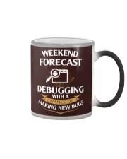 programmer weekend forecast Color Changing Mug thumbnail