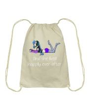 And she lived happily ever after Drawstring Bag thumbnail