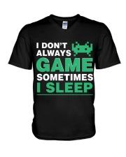 The gamer fact V-Neck T-Shirt thumbnail