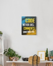Code never lies 11x14 Gallery Wrapped Canvas Prints aos-canvas-pgw-11x14-lifestyle-front-03