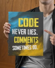 Code never lies 11x14 Gallery Wrapped Canvas Prints aos-canvas-pgw-11x14-lifestyle-front-30
