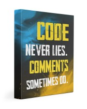 Code never lies 11x14 Gallery Wrapped Canvas Prints front